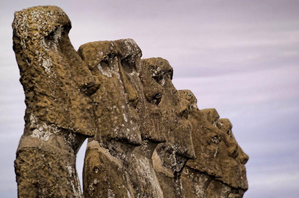 Easter Island heads.