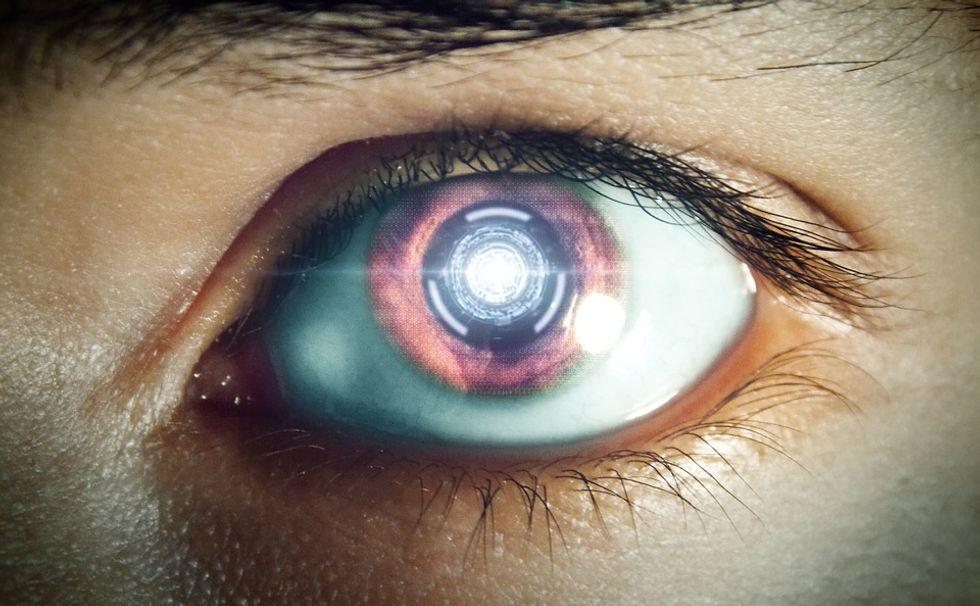 A bionic cyborg eye.