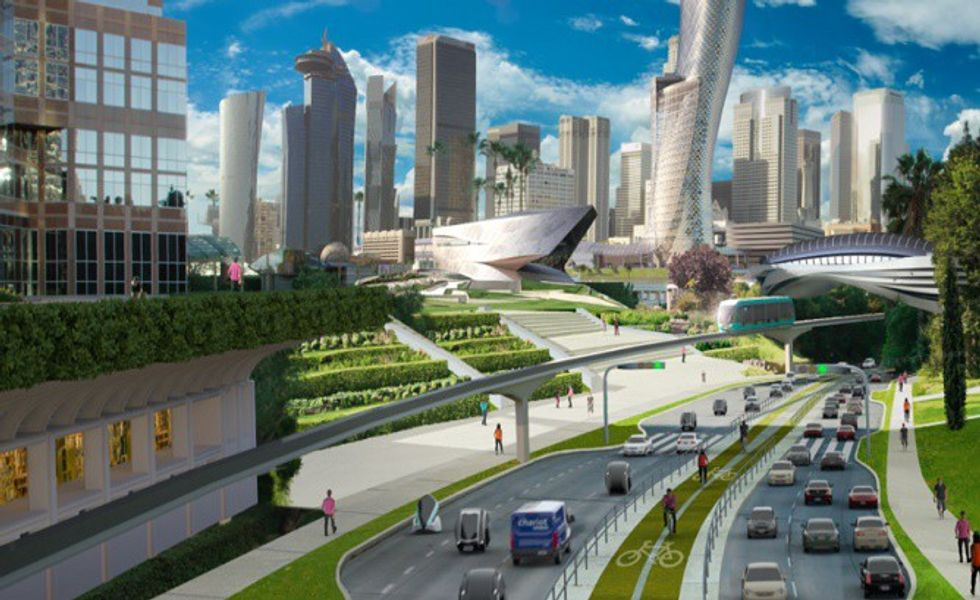 Ford's Futuristic Rendering of the City of Tomorrow