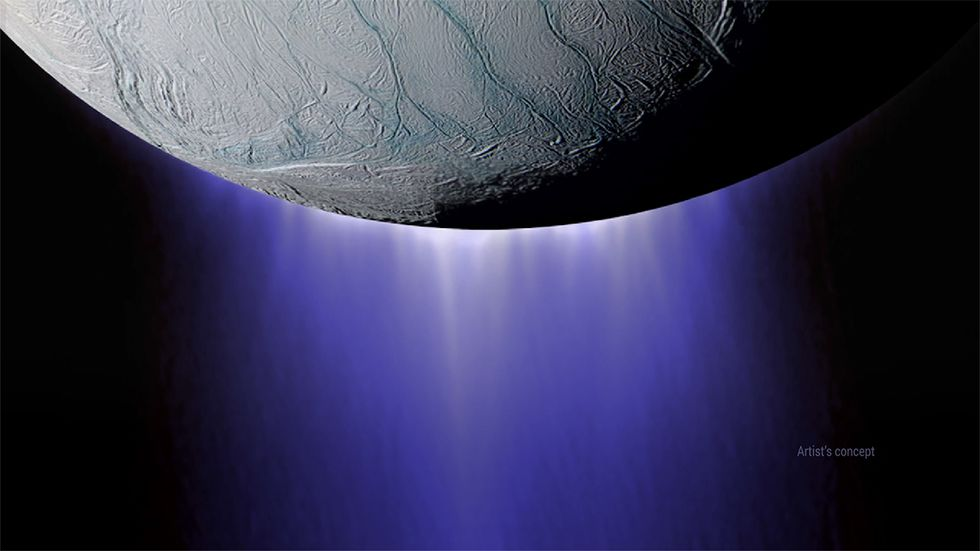 plume from Enceladus's south pole