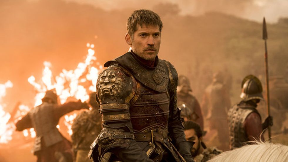 Jamie Lannister in Game of Thrones' recent Dragon Battle, Episode 4 'The Spoils of War'