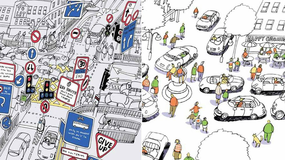 Want Less Car Accidents? Remove Traffic Signals and Road Signs