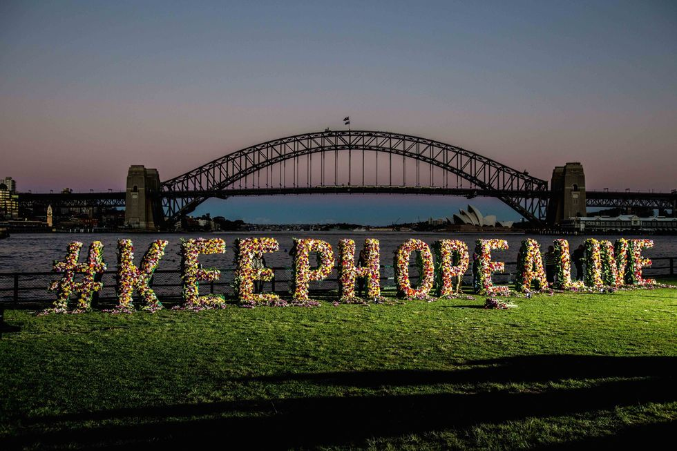 Amnesty international and Sydney Bali Nine activists hold a vigil in a last ditch effort to sway the Indonesian Government to halt the executions of Andrew Chan and Myuran Sukumaran on April 27, 2015 in Sydney, Australia. (Cole Bennetts/Getty Images)