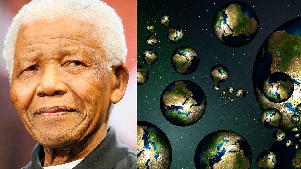 Nelson Mandela and alternate worlds