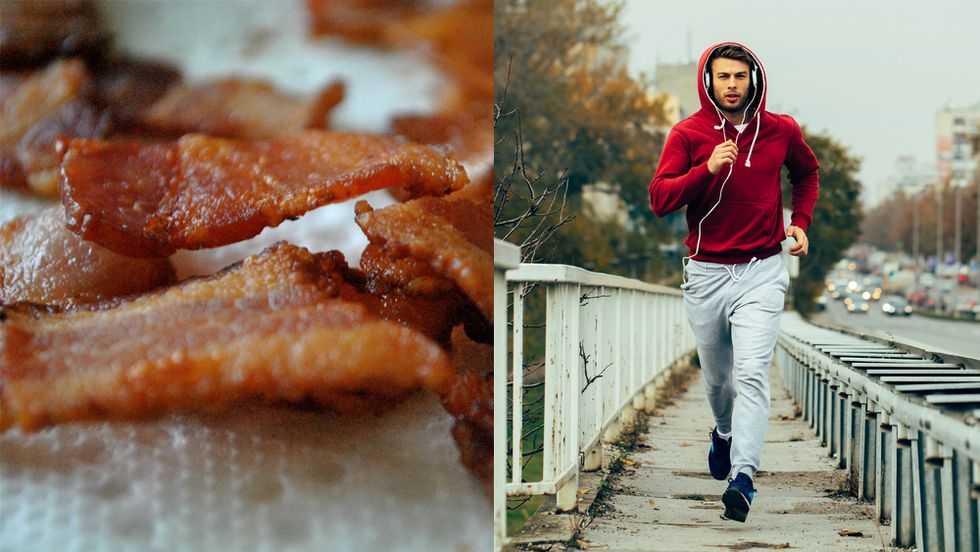 Bacon, or jog? Ideally both.