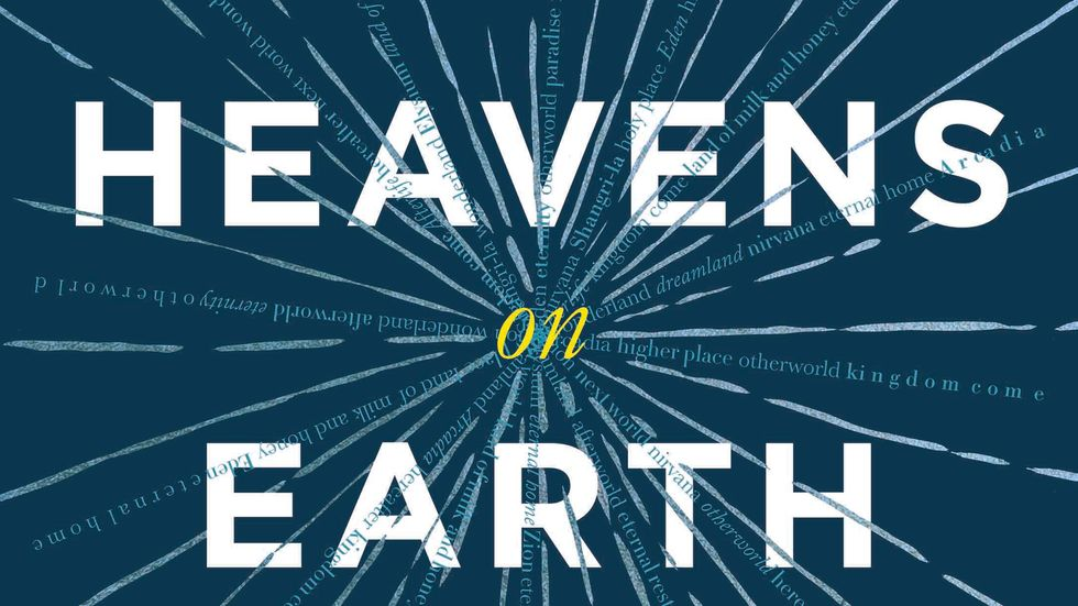 """A portion of the cover of """"Heaven's on Earth"""", by Michael Shermer."""