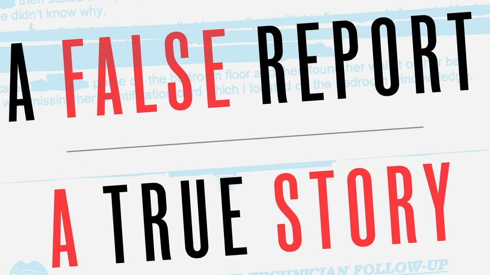 Cover of A FALSE REPORT. Copyright © 2018 by T. Christian Miller and Ken Armstrong.
