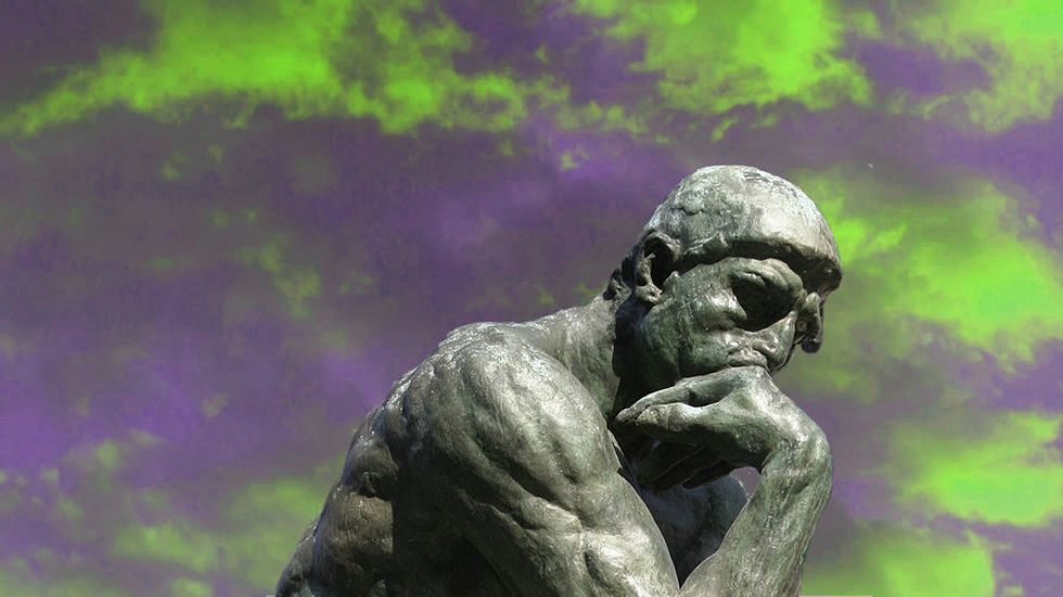 The thinker, thinking his way out of a logic fallacy.