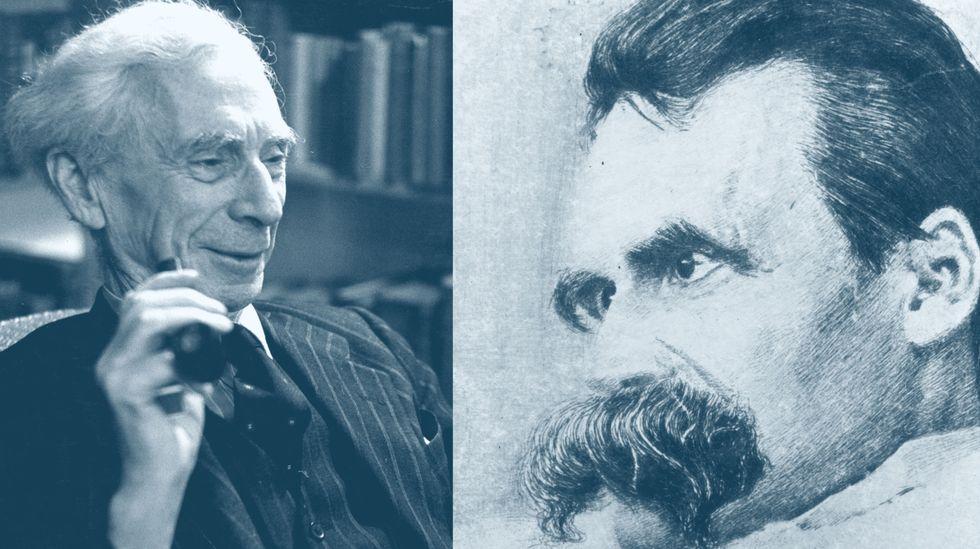 Bertrand Russell and Friedrich Nietzsche (Getty Images and Scotty Hendricks)