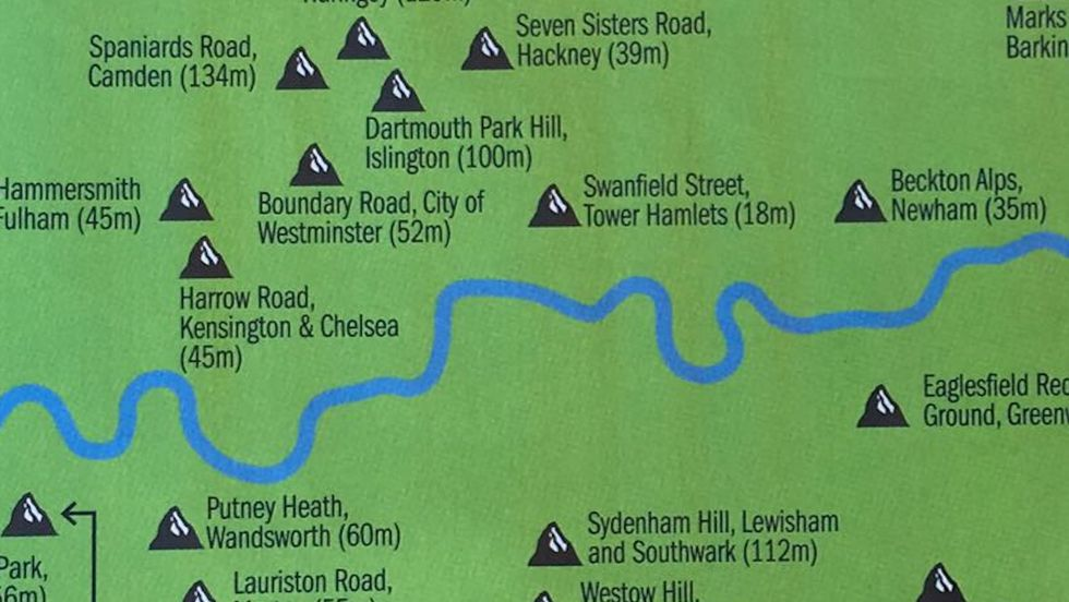 Yes, London is flat. But its 32 boroughs have 'summits' nevertheless