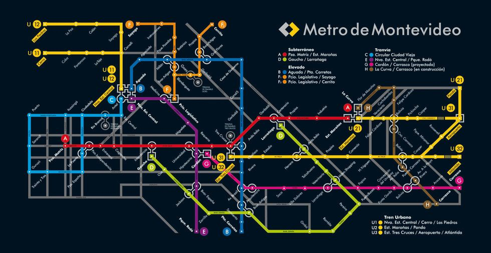 Downtown Rochester Ny Old Subway Map Blue Line.Fake Metro Map Of Montevideo Big Think