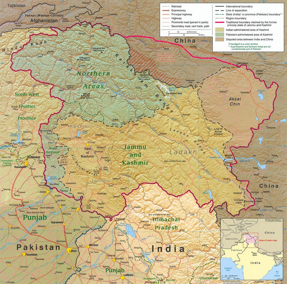 Two Maps of Kashmir That Make More Sense Than One - Big Think India Princely States Map on india taj mahal, india bombay, india independence movement, india punjab, india delhi, india harappan civilization, india british raj, india biggest cities, india thar desert, india map pre-1947, india economy,