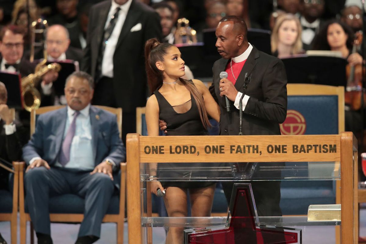 Bishop at Aretha Franklin's Funeral Apologizes to Ariana Grande