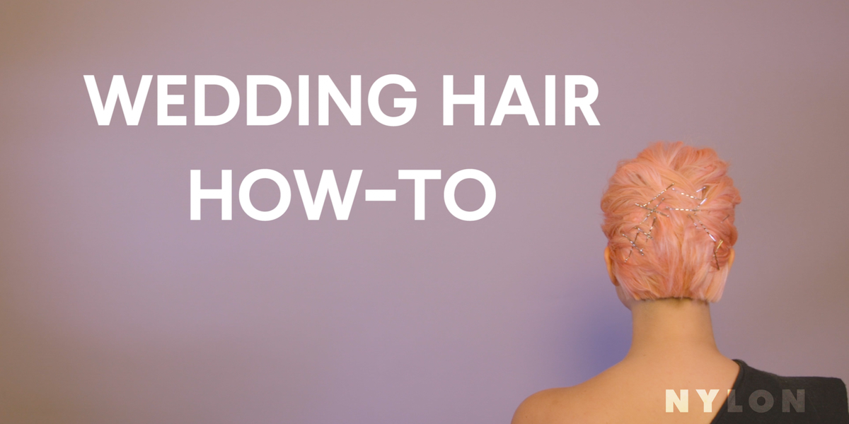 Here's How You Can Do Your Own Hair On Your Wedding Day