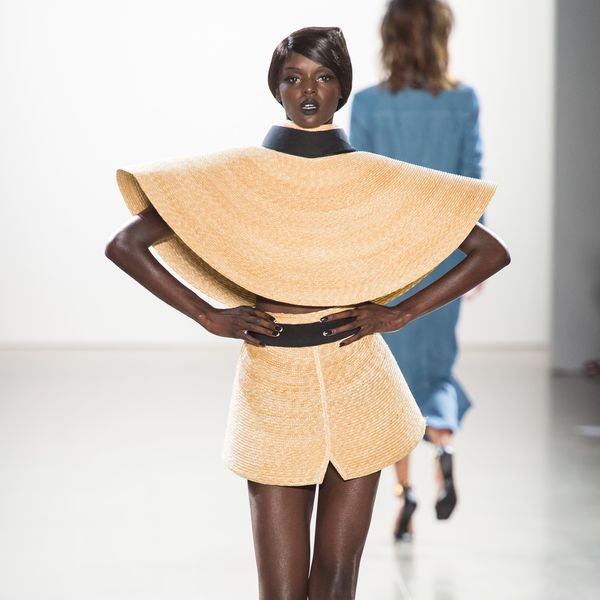 You Have to See Christian Cowan's Showstopping Double Sun Hat