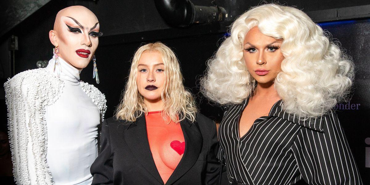 Christina Aguilera Fulfills Destiny, Performs With Farrah Moan at NYFW