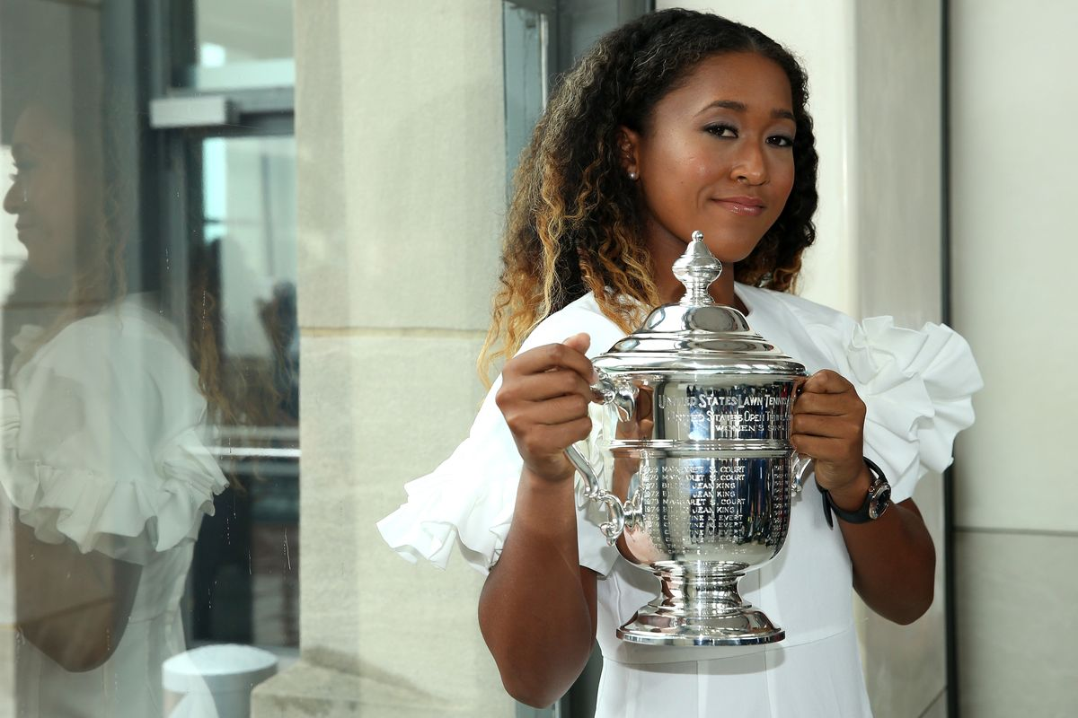 Naomi Osaka Wears Comme des Garcons to Accept US Open Trophy
