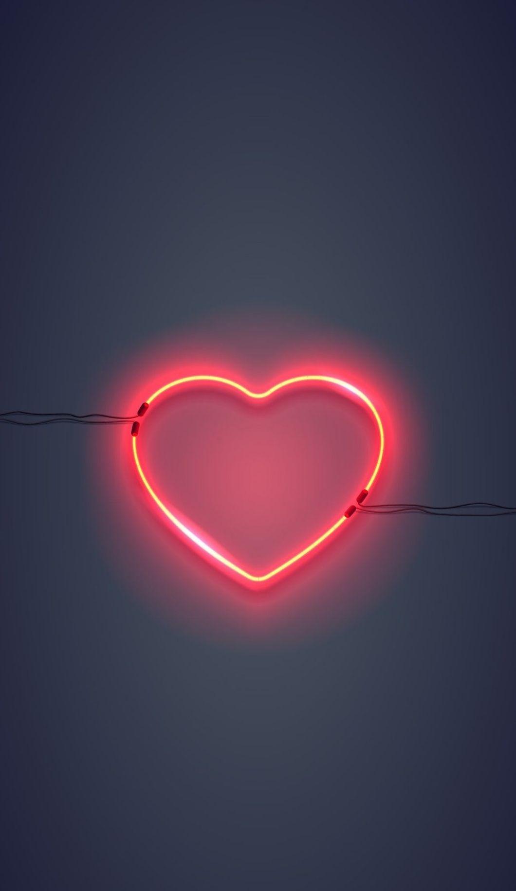 Unsplash- heart made from neon lights