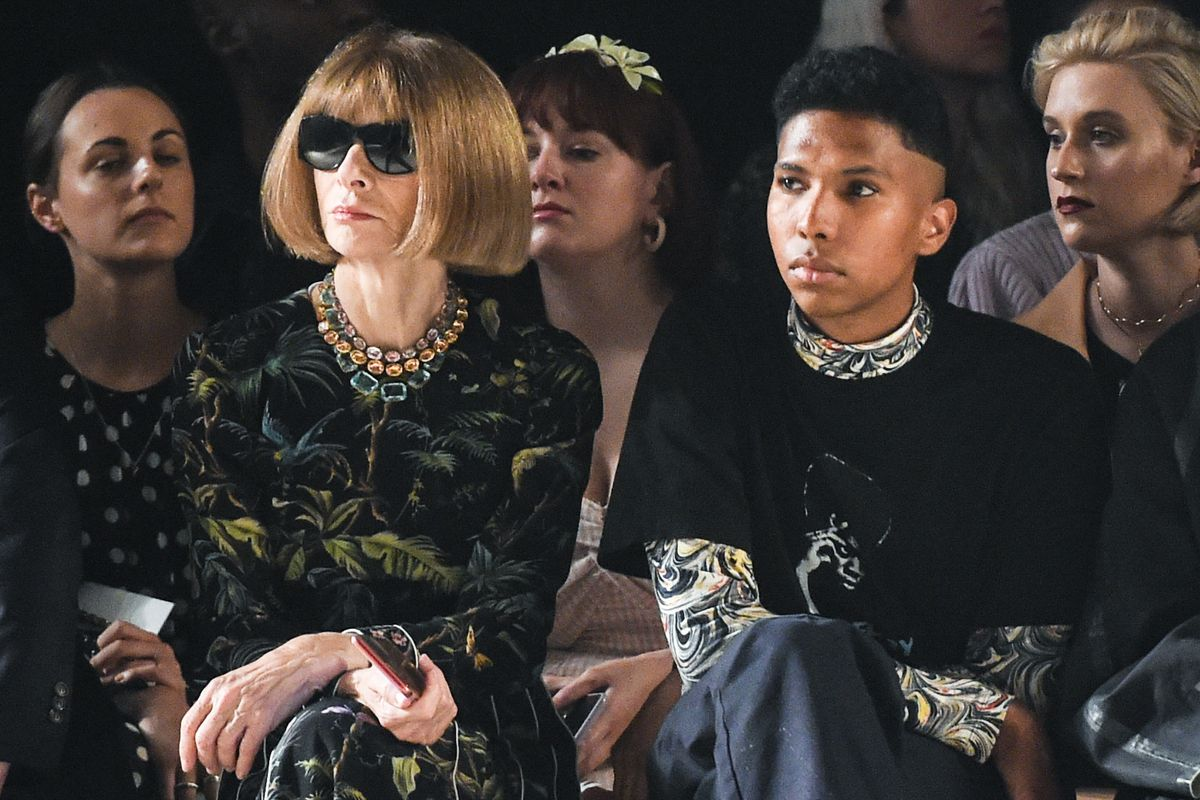 Anna Wintour Sat With Tyler Mitchell At Coach