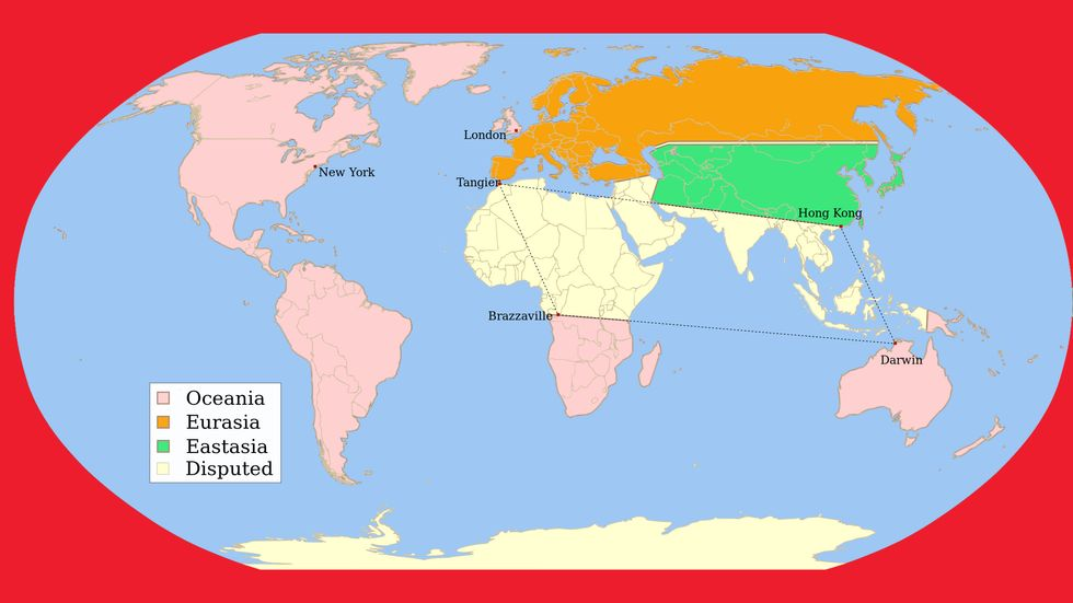 """A Map of George Orwell's """"1984"""""""