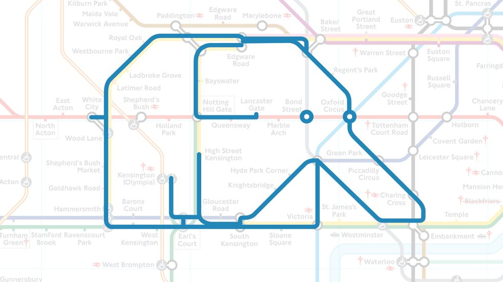 Meet the Zoo Hiding in the Tube Map