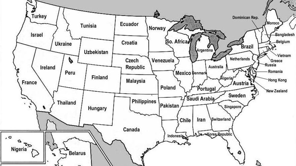 131 - US States Renamed For Countries With Similar GDPs