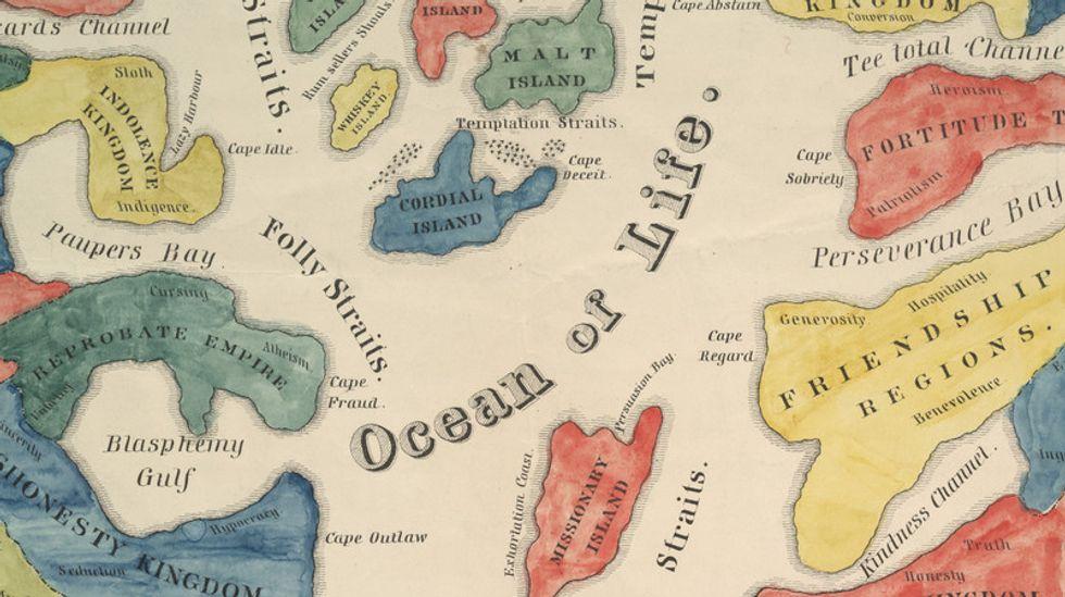 """Cruising Alcoholic Seas"": a Map on Temperance"