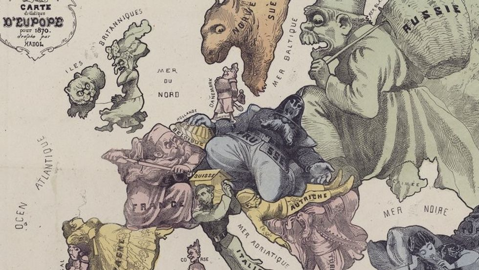 A Comedy Map of the War of 1870, Before it Happened