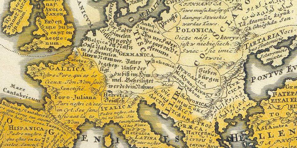 Mapping Europe's Linguistic Diversity via the Lord's Prayer