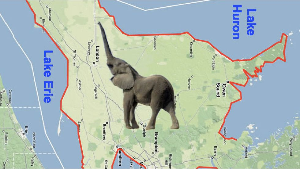 Southern Ontario, Home to Canada's Only Native Elephant