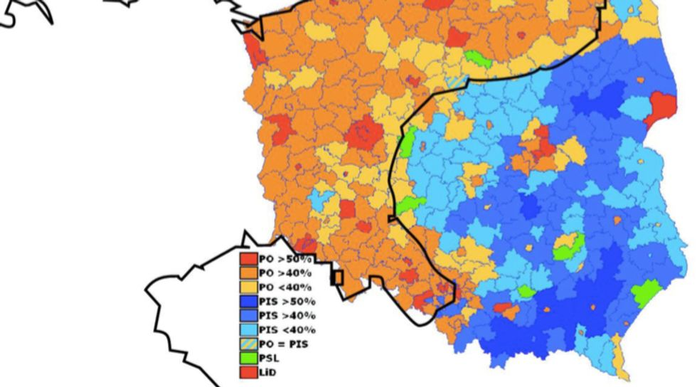 Polish Election Map Reveals Old Imperial Border