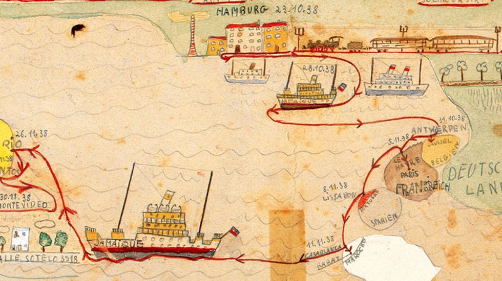 A Child's Map of the Jewish Exodus from Nazi Germany