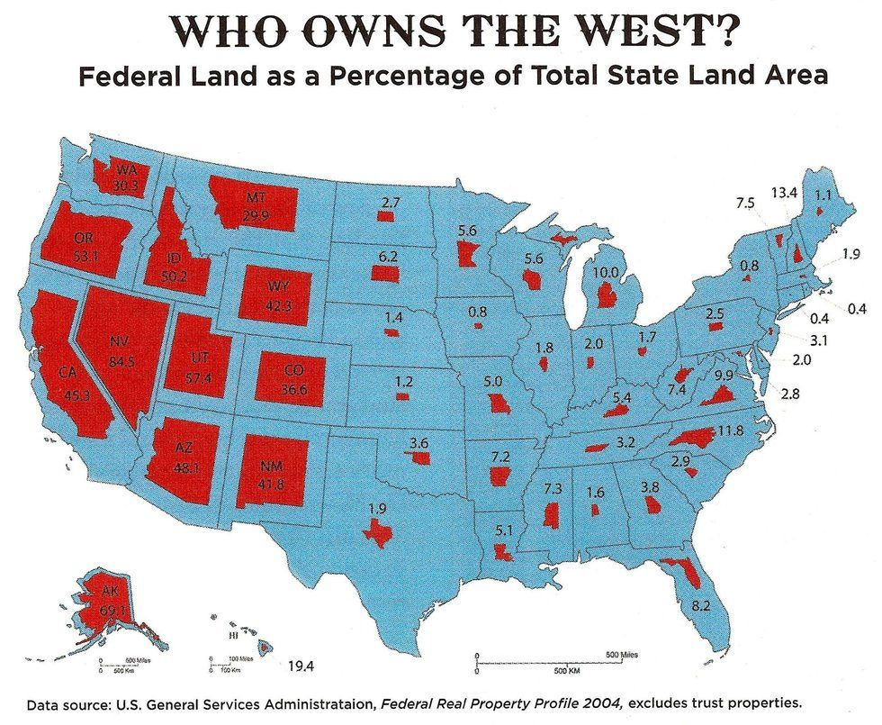 Map Of Federally Owned Land Just How Much Land Does the Federal Government Own — and Why