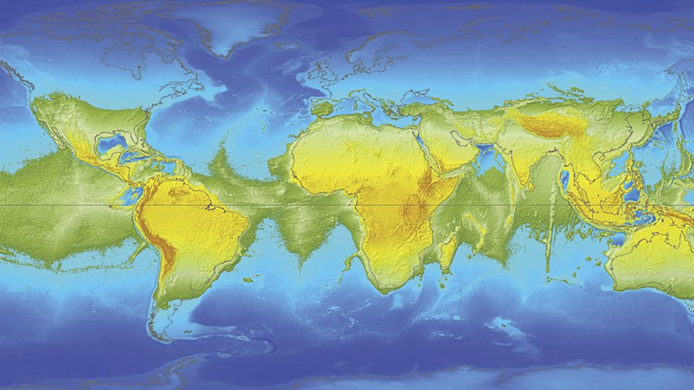If the Earth Stood Still, This is What the World Map Would Look Like