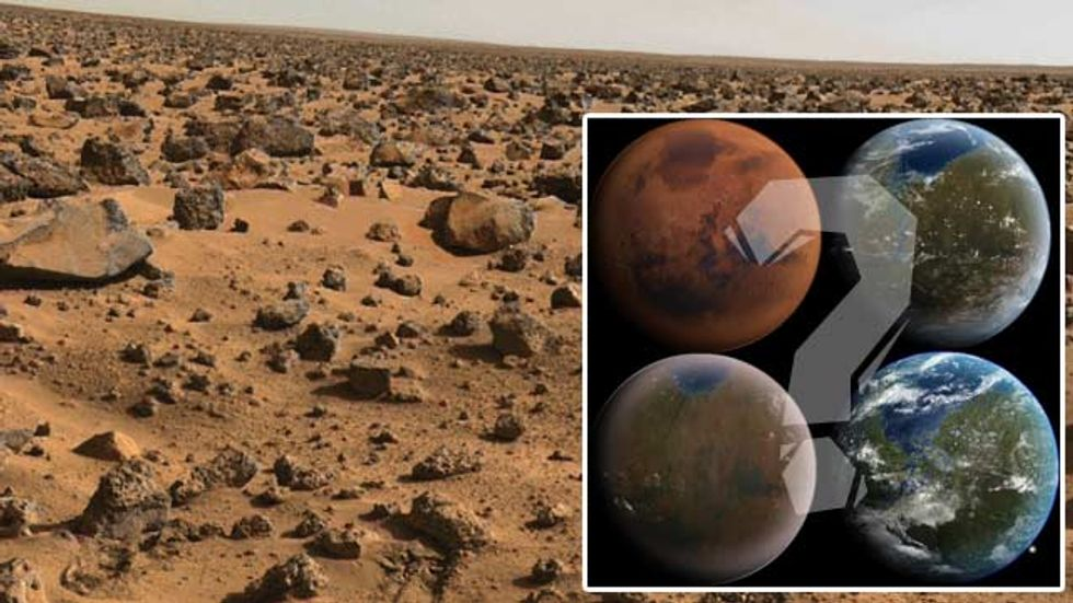 Should We Use Comets and Asteroids to Terraform Mars?