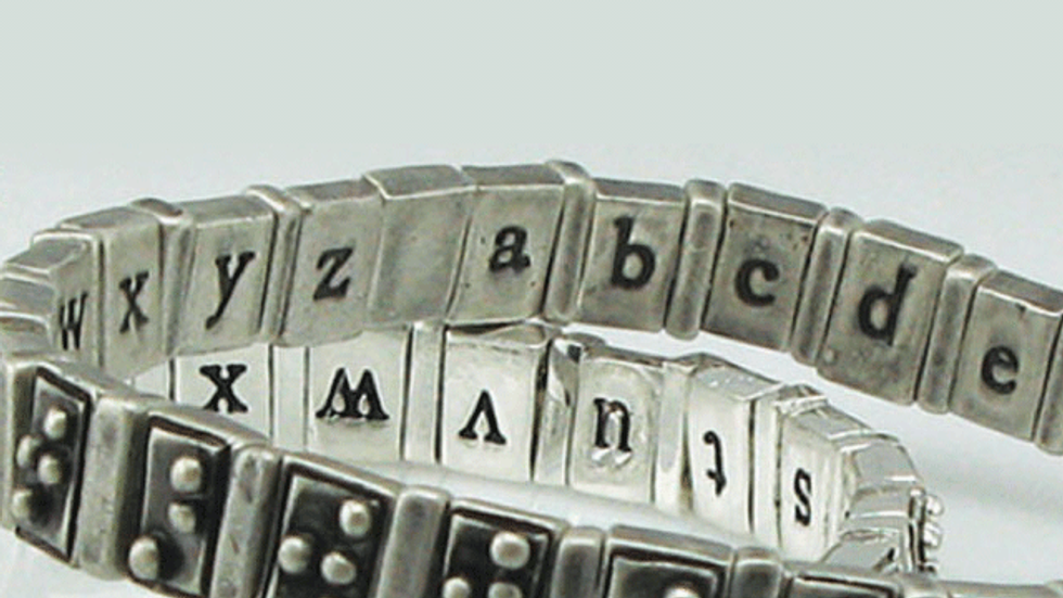 Braille Alphabet Bracelet Wins 2010 People's Design Award