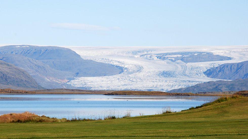 Vatnajökull and the volcanoes under the glacier in Iceland