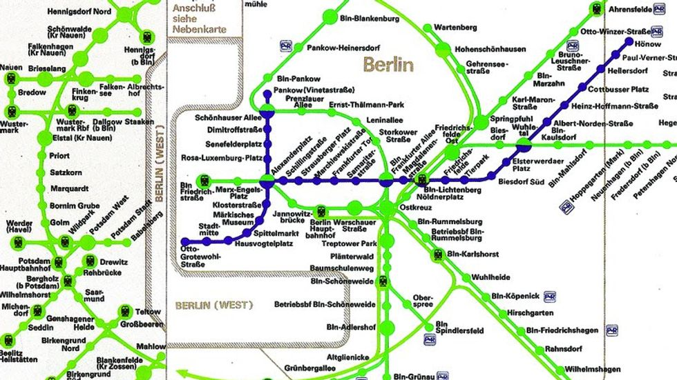 How East German Maps Made West Berlin (Almost) Disappear