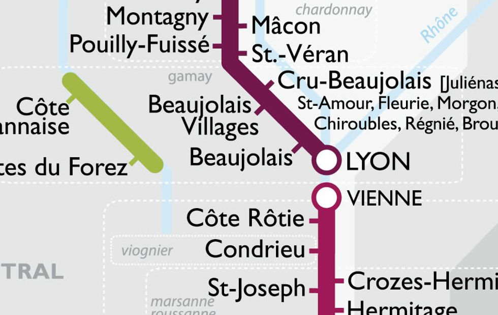 533 - Next Stop Beaujolais: A Metro Map of French Wines