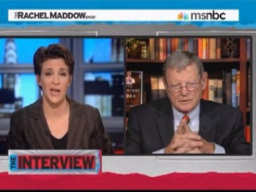 Response to James Inhofe's Statements to Rachel Maddow on Climate Shift Report