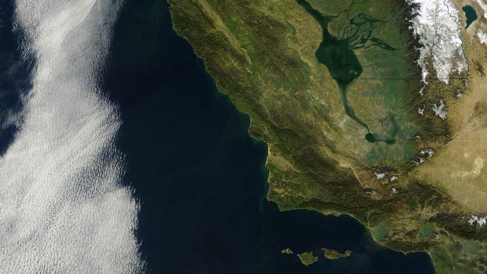 The First Satellite Map of California (1851)
