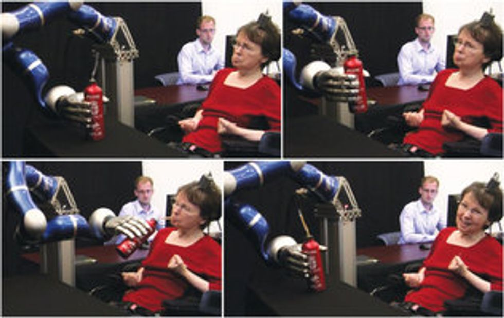 Thought Control: Paralyzed Woman Sips Coffee with Brain-Computer Interface and Robotic Arm