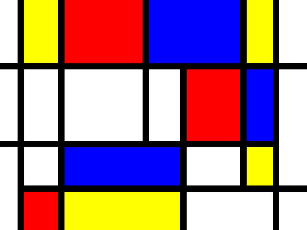 Your Brain Looks Like a Mondrian Grid Painting