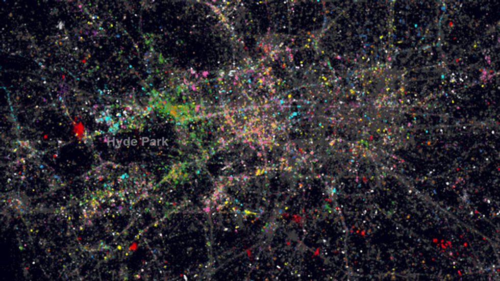 London mapped with language
