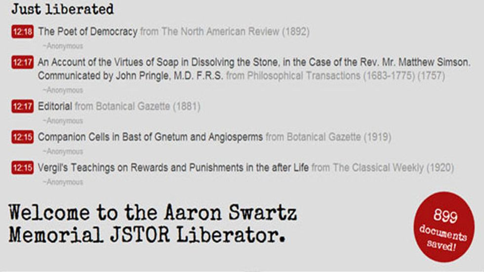The internet begins to finish the job that Aaron Swartz started, at the rate of a paper per minute