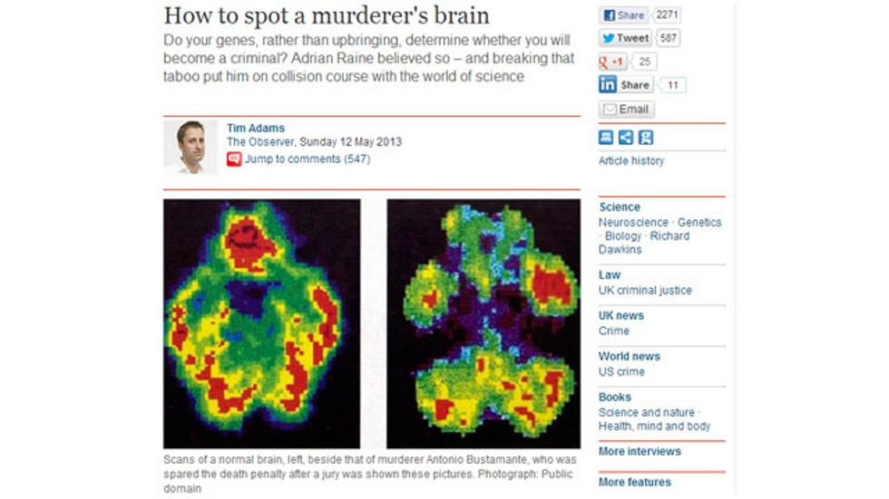 How NOT to spot a murderer's brain