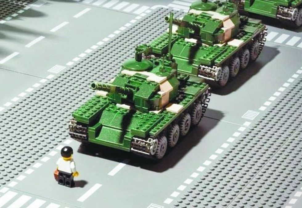 Remembering Tiananmen Square in Legos, Photos and Memes