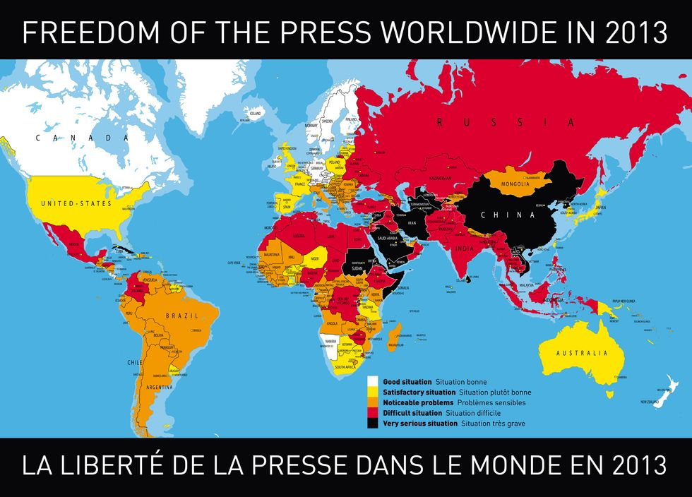 The Depressing State of Press Freedom Around the World