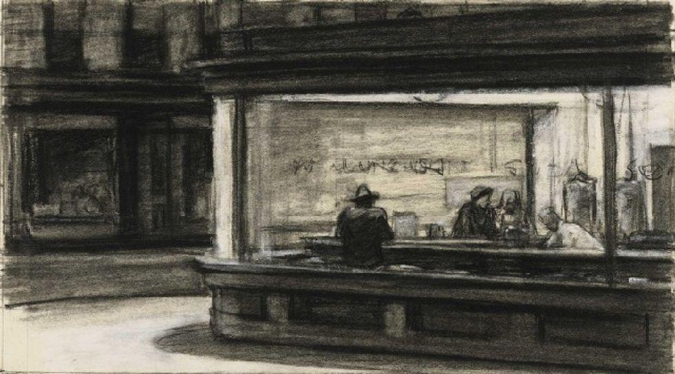 Edward Hopper's Noir Drawings