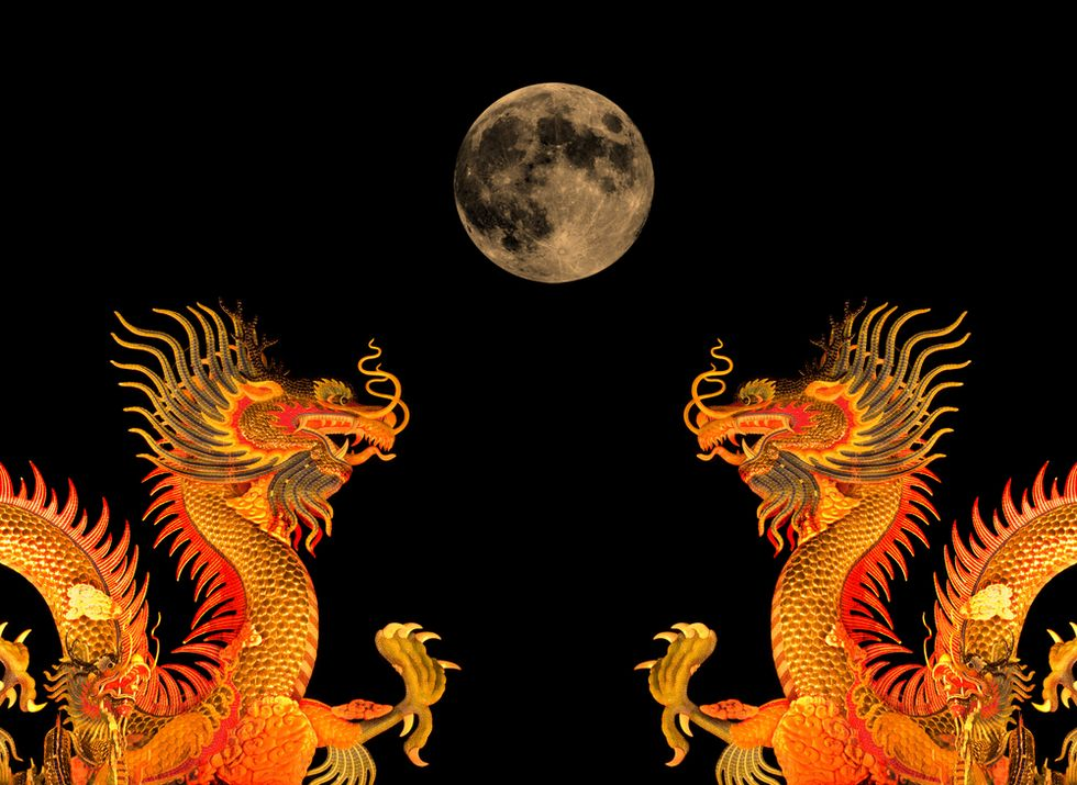 China Super Moon: Here There Be Dragons